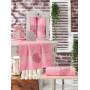 11040 Розовый RINGS махра (50х90+70х140 ) в коробке Набор полотенец MERZUKA