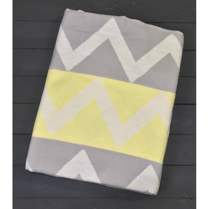 Зигзаги 5772ВЖК/М 205х150 100% х/б Байковое жак Ермолино одеяло