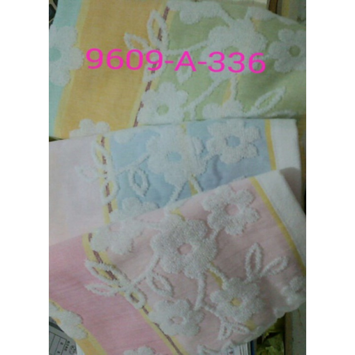 9609-A-336 Цветочки 34х74 (12) полотенце 7-Я