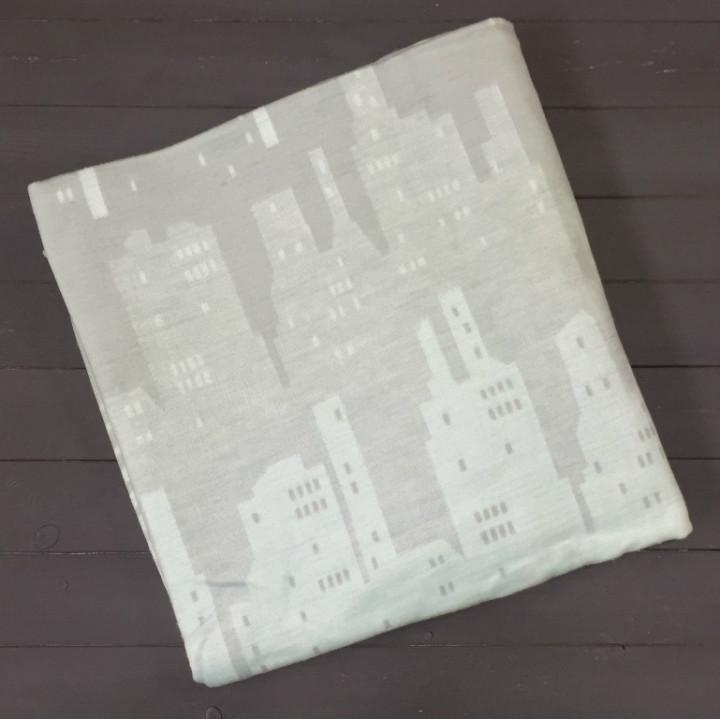 Серо-голубой ( Мегаполис ) 5772ВЖК 215х150 100% х/б Байковое жак Ермолино одеяло