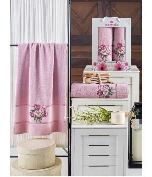10679 Светло-розовый EMOTION (50х90+70х140 ) в коробке Набор полотенец MERZUKA