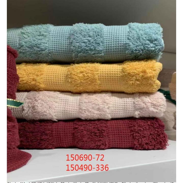 150490 Махра-Вафля 34х75 (12) полотенце 7-Я