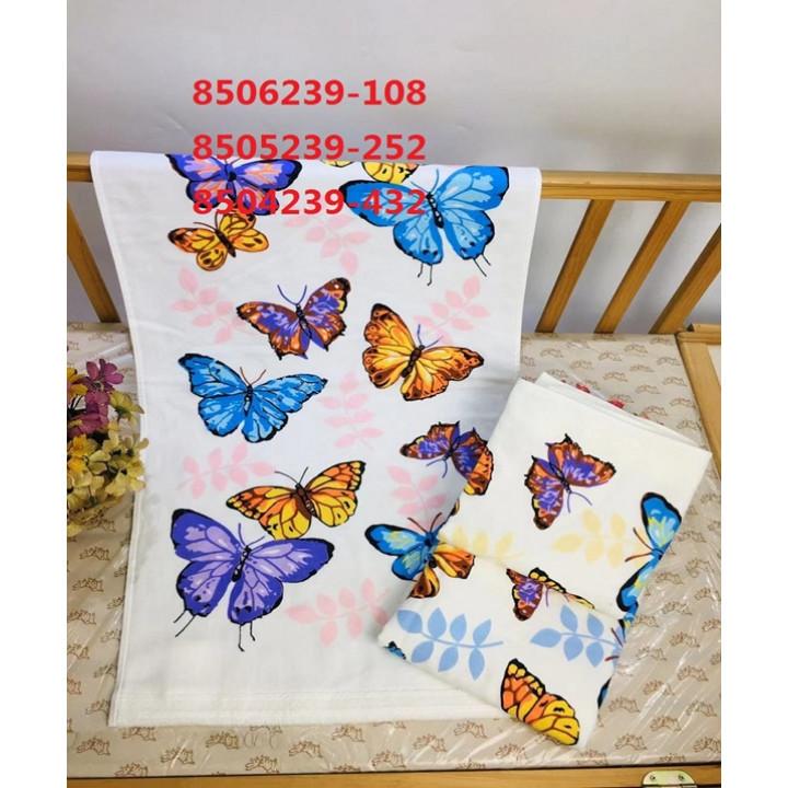 8504239-432 Бабочки М 34х75 (12) полотенце 7-Я