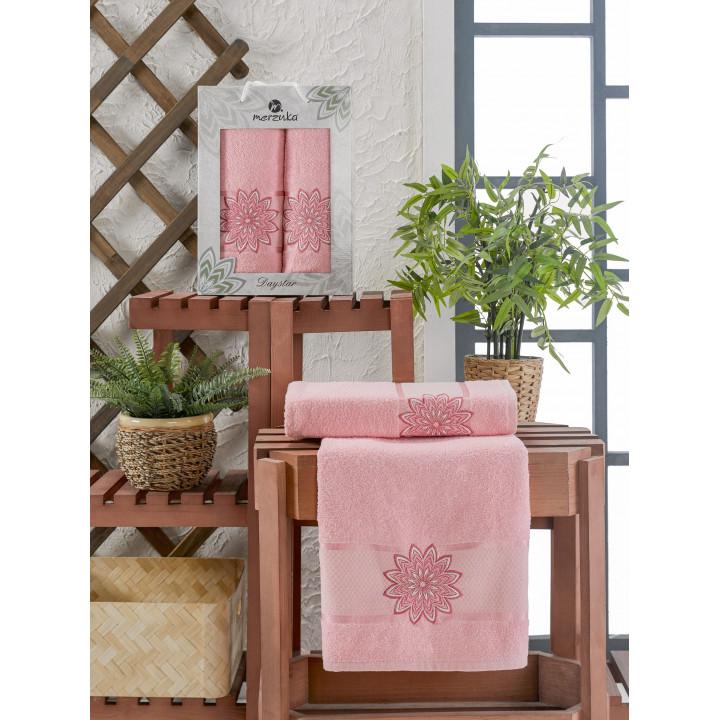 11292 Розовый DAYSTAR махра (50х90+70х140 ) в коробке Набор полотенец MERZUKA