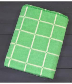 Зеленое Клетка 5772В 205х140 75% х/б +25% ПАН Байковое Ермолино одеяло