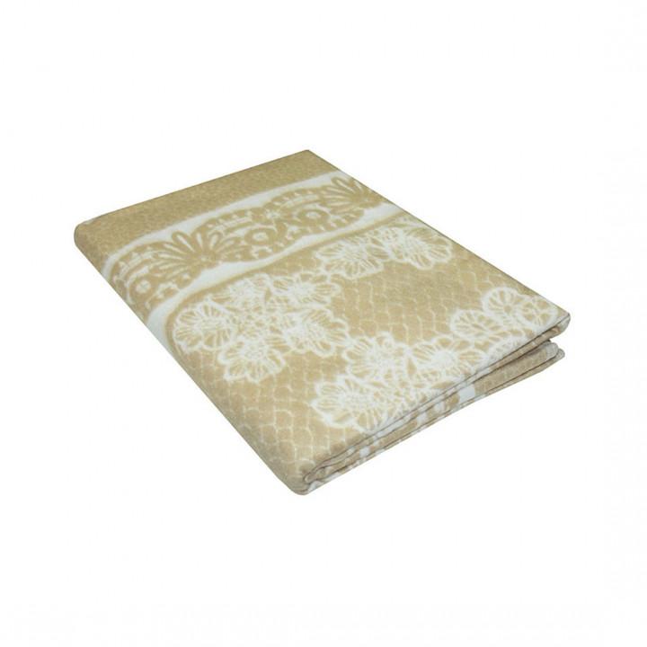 Бежевое Кружево 5772ВЖК 215х150 100% х/б Байковое жак Ермолино одеяло