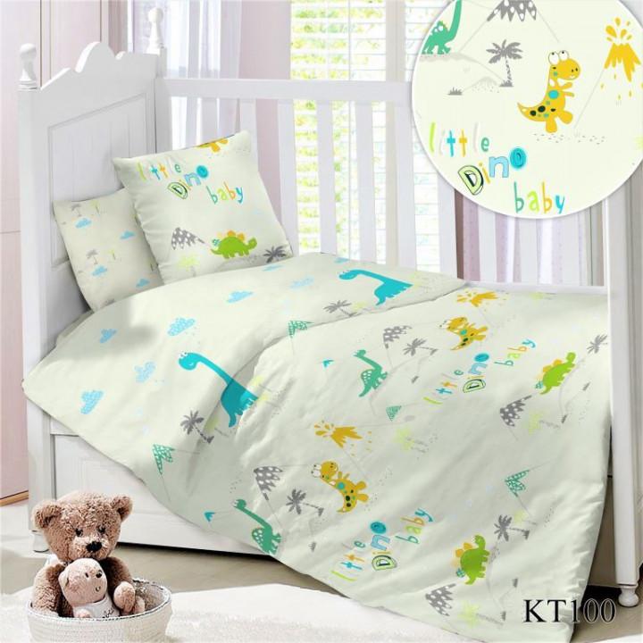 CДA-10-029/KT-100 Дино КПБ Детский в кроватку Сатин АльВиТек