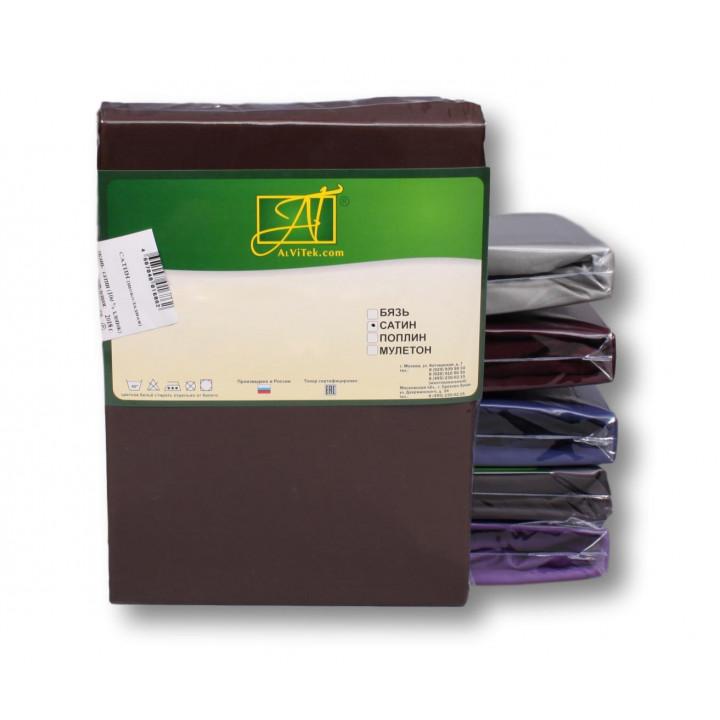 Н-С-70-ШОК шоколадный наволочка ткань сатин 2шт.-68х68
