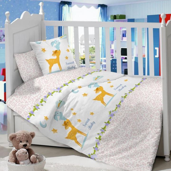 CДA-10-001/KT-32 Олененок КПБ Детский в кроватку Сатин АльВиТек