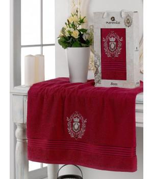 10224 Бордовый BOSS 70х130 полотенце в коробке MERZUKA