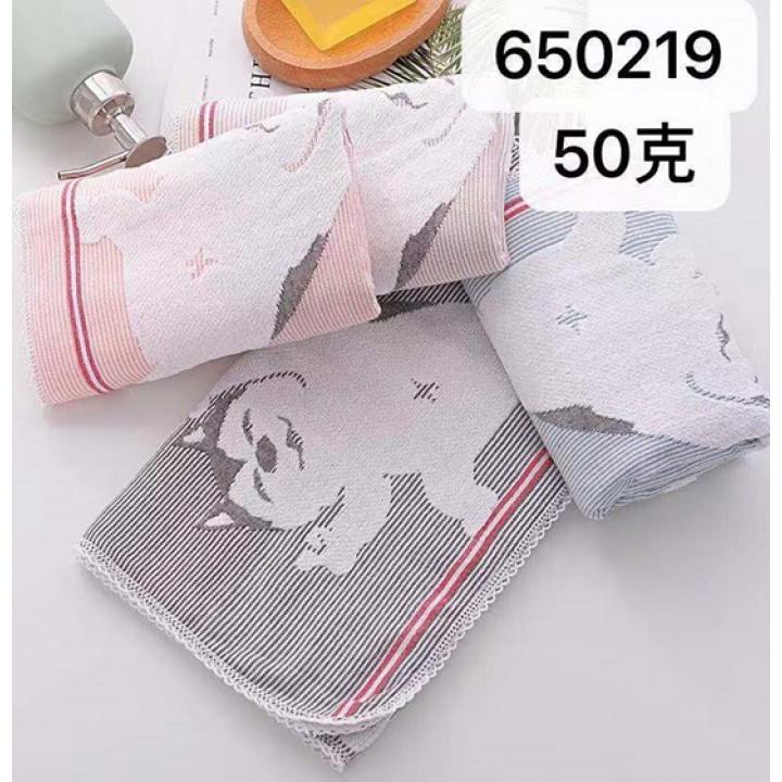 650219-600 Зверята 25х50 М (20) полотенце 7-Я
