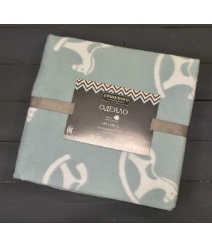 Льдистый Лошадки 57-8ЕТЖ Премиум 100х140 100% х/б Байковое жаккард Ермолино одеяло