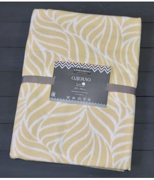 Бежевый Орнамент 5772ВЖК Премиум 212х150 100 % х/б Байковое жаккард Ермолино одеяло